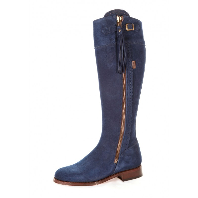 Navy Blue Leather Acg Boots  9ab5d51f0e85