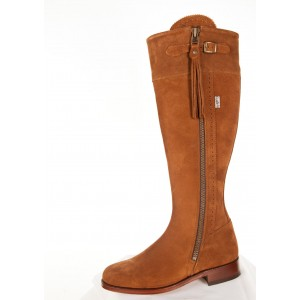 Camel Suede Leather soled Boots