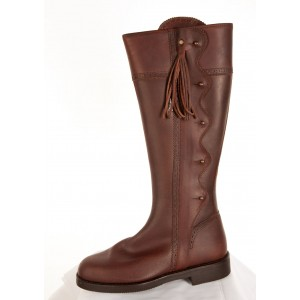 Leather Wave Deisgn Boots