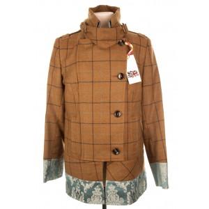 Brocade Trim Military Jacket: Ancoat