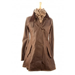 Katrina Wax Coat: Antique Brown