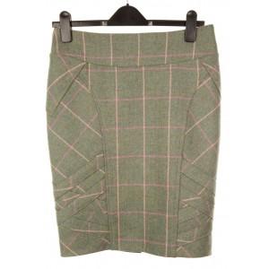 Long Pencil Skirt: Fairfield Tweed