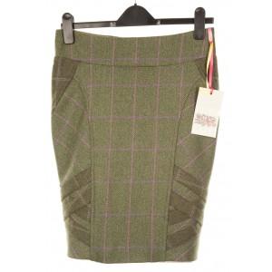 Long Pencil Skirt: Hulme Tweed