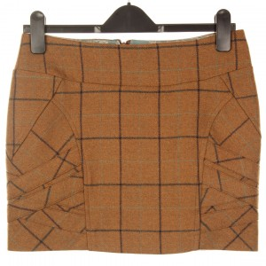 Panel Strap Mini Skirt: Ancoat