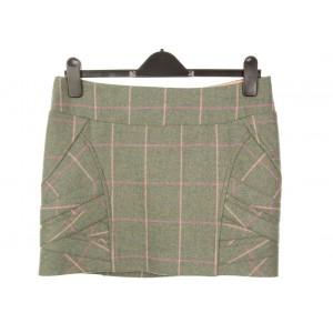 Panel Strap Mini Skirt: Fairfield Tweed
