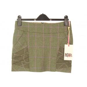 Panel Strap Mini Skirt: Hulme Tweed