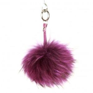 Xlarge Aubergine Key Ring Bag Fob