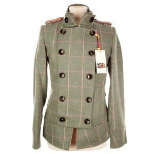 Tab Collar Military Jacket: Fairfield Tweed