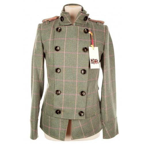 Tab Collar Military Jacket: Fairfield Tweed