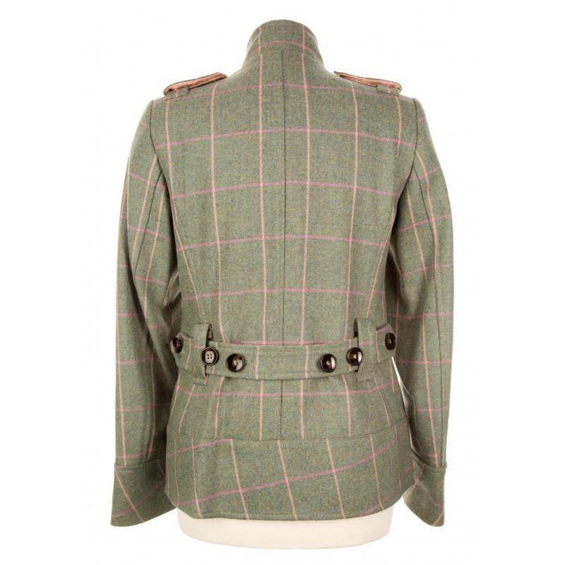 c7e5434ed9f Tab Collar Military Jacket  Fairfield Tweed