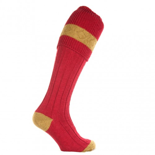 The Byron: Sage and Cherry Sock