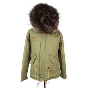 Dark Grey Fur Parka