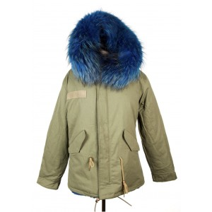 Royal Blue Fur Parka