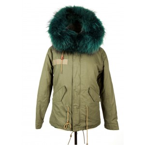 Forest Green Fur Parka