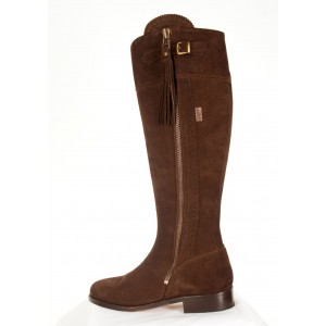 Chocolate Brown Suede Leather soled Boots