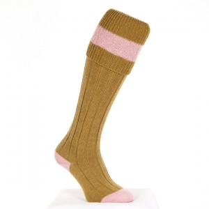 The Byron: Sage and Baby Pink Sock