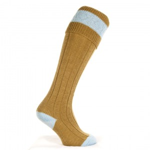 The Byron: Sage and Blue Sock
